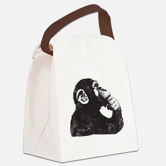 Thoughtful Monkey  Canvas Lunch Bag