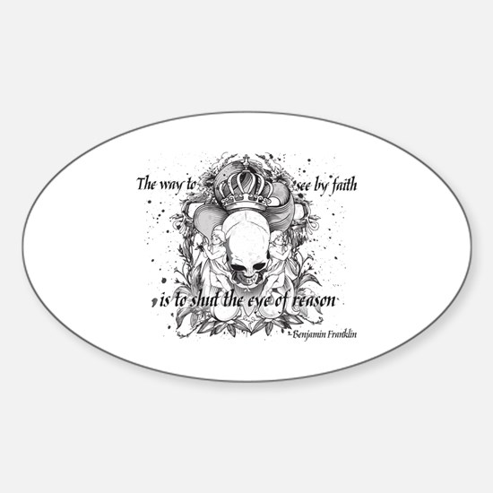The Way to See by Faith Sticker (Oval)