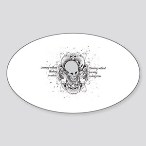The Way to See by Faith - White Sticker (Oval)