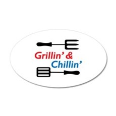 GRILLIN AND CHILLIN Wall Decal