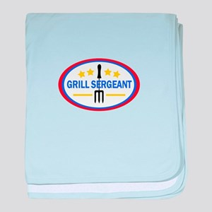 GRILL SERGEANT baby blanket