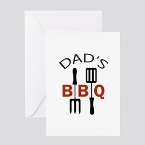 DADS B B Q Greeting Cards