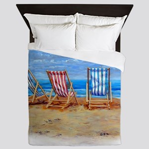 Beach Chairs Queen Duvet