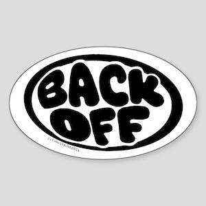 Back Off Sticker (oval)
