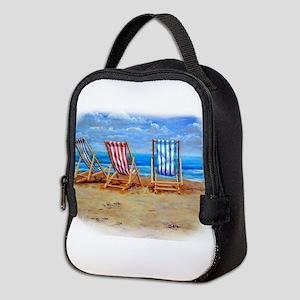 Beach Chairs Neoprene Lunch Bag