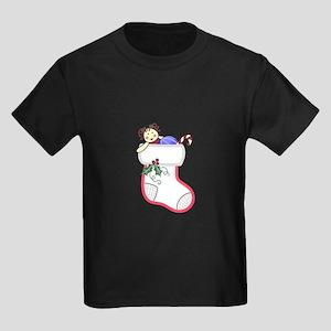 CHRISTMAS STOCKING APPLIQUE T-Shirt