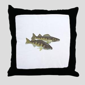 WALLEYE FISH Throw Pillow