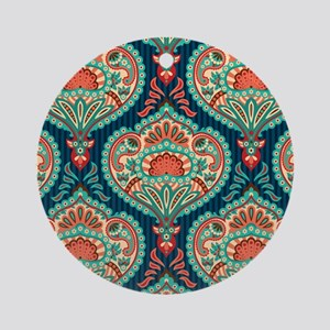 Ornate Paisley Pattern Ornament (Round)