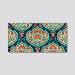 Ornate Paisley Pattern Aluminum License Plate
