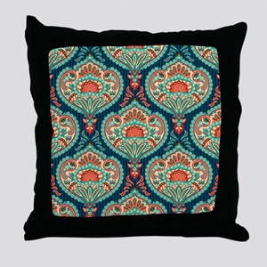 Ornate Paisley Pattern Throw Pillow