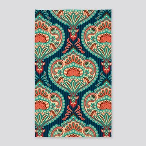 Ornate Paisley Pattern Area Rug