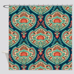 Ornate Paisley Pattern Shower Curtain