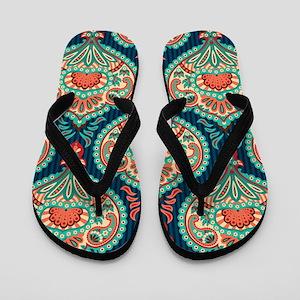Ornate Paisley Pattern Flip Flops