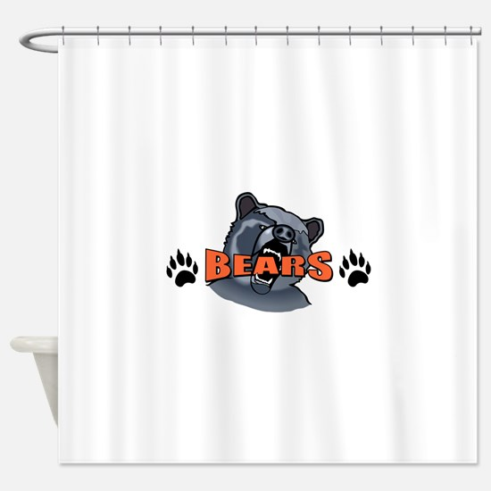 BEAR AND PAW PRINTS Shower Curtain