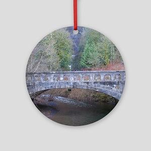 Scenic Bridge Round Ornament