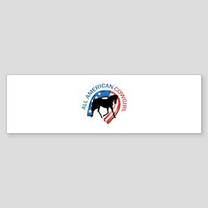 ALL AMERICAN COWGIRL Bumper Sticker