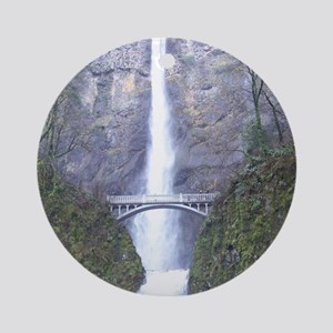 Multnomah Falls Round Ornament