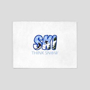 THINK SNOW 5'x7'Area Rug