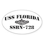 USS FLORIDA Sticker (Oval)