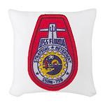 USS FLORIDA Woven Throw Pillow