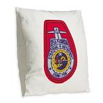 USS FLORIDA Burlap Throw Pillow