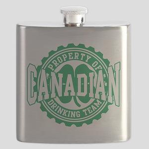 Canadian Irish Drinking Team Flask