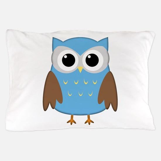 blue owl png.png Pillow Case