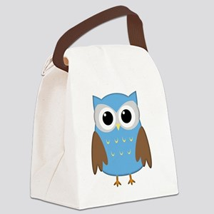 blue owl png Canvas Lunch Bag