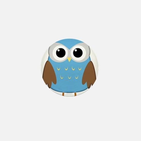 blue owl png.png Mini Button