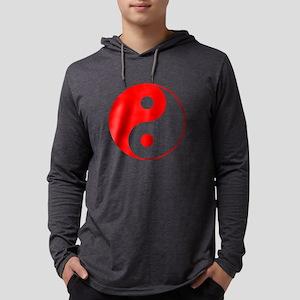 Red Yin Yang Symbo Long Sleeve T-Shirt