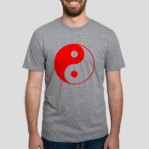 Red Yin Yang Symbol T-Shirt