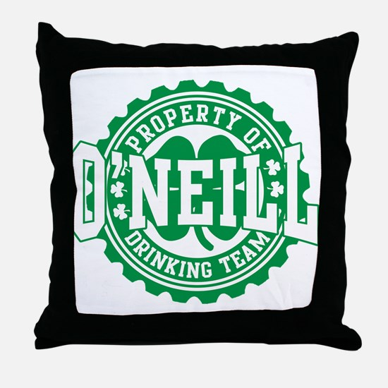 O'neill Irish Drinking Team Throw Pillow