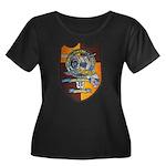 USS FLOR Women's Plus Size Scoop Neck Dark T-Shirt