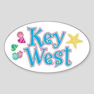 Key West Flip Flops - Oval Sticker