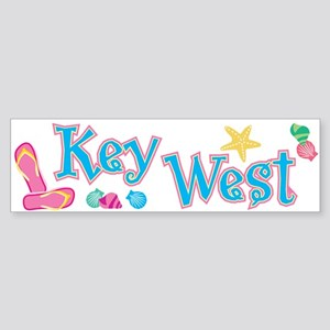Key West Flip Flops - Bumper Sticker