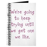 Keep Trying Journal