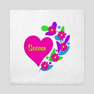 Soccer Heart Queen Duvet