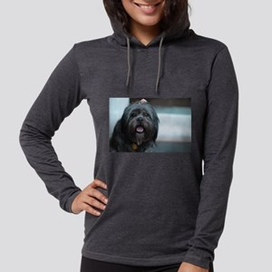 smiling lhasa type dog Long Sleeve T-Shirt