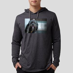 smiling lhasa type dog Long Sleeve T-Shirt
