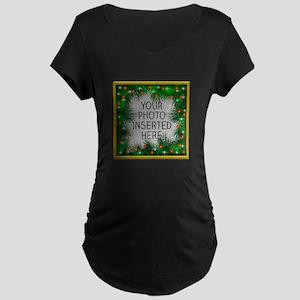 Xmas Stars Maternity Dark T-Shirt