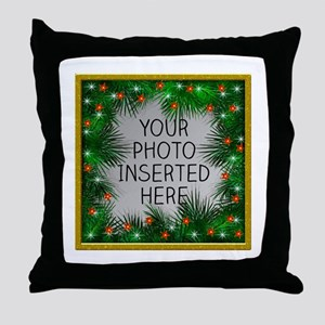 Xmas Stars Throw Pillow