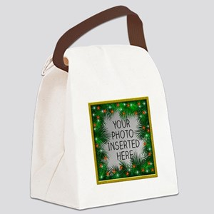 Xmas Stars Canvas Lunch Bag