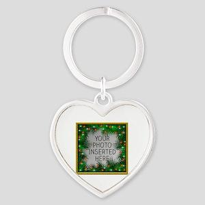 Xmas Stars Heart Keychain