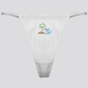 ISLAND TIME APPLIQUE Classic Thong