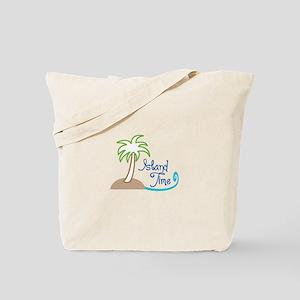 ISLAND TIME APPLIQUE Tote Bag