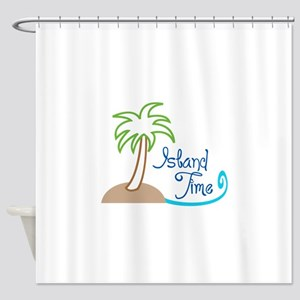 ISLAND TIME APPLIQUE Shower Curtain