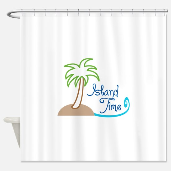 ISLAND TIME APPLIQUE Shower Curtain