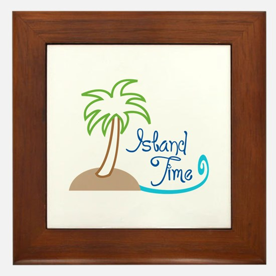 ISLAND TIME APPLIQUE Framed Tile
