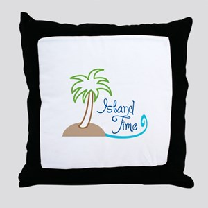 ISLAND TIME APPLIQUE Throw Pillow