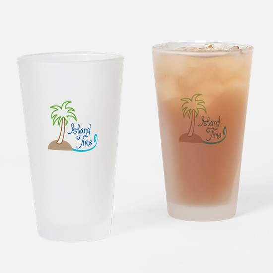 ISLAND TIME APPLIQUE Drinking Glass